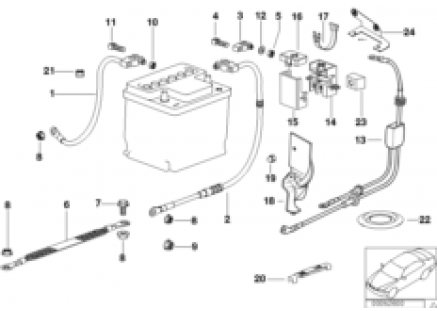 Battery cable(battery rear)