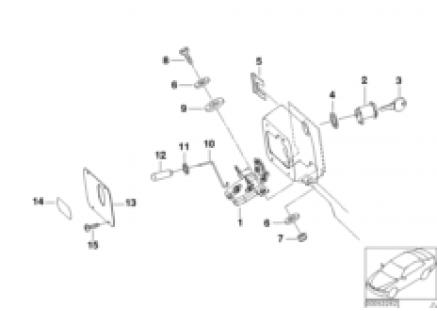 Hood parts, doors/locking system