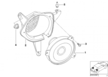 Stereo system, rear