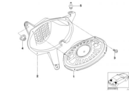 Harman Kardon system, rear