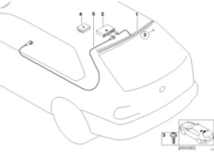 Rear window antenna