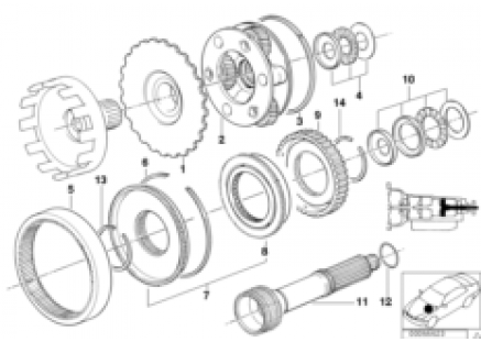 ZF 4hp22/24 planet wheel sets