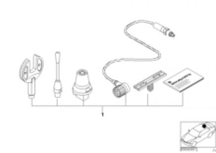Install.kit, telephone roof antenna