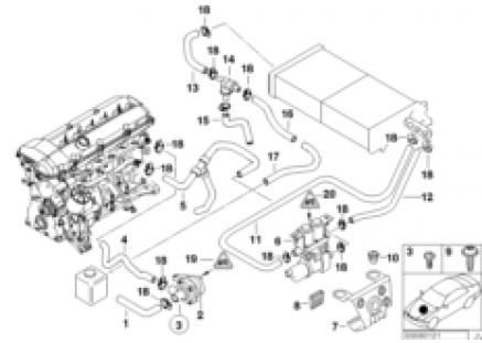 Hoses f pump and valve/autom.air cond.