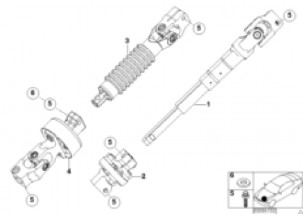 Steer.col.-lower joint assy