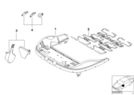 Front seat frame mech./el./singl.parts