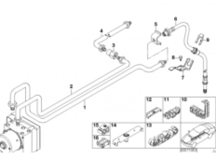 Rear brake pipe ASC