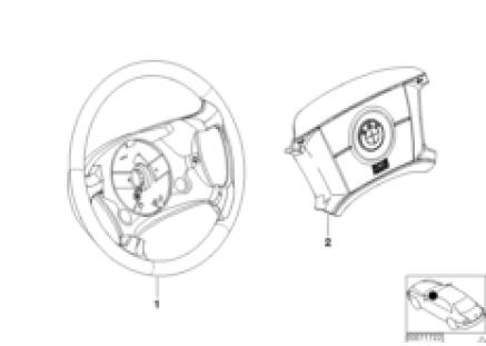 Leather steering wheel Bicolor