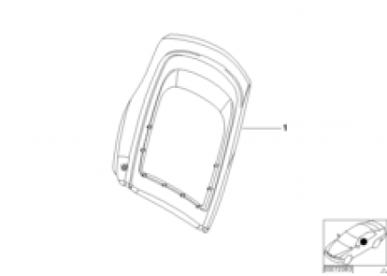 Indiv.rear panel,standard seat,leather