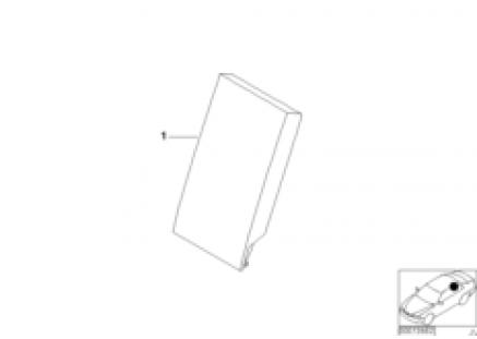 Individual r. load-through armrest, lthr