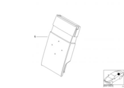 Individual Multi. armrest, ld-thr., lthr