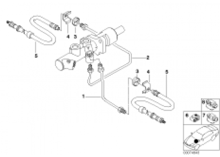 Brake pipe, front, without ABS