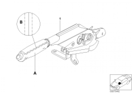 Individual handbrake lever, leather