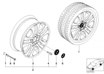 BMW LA wheel, double spoke 79