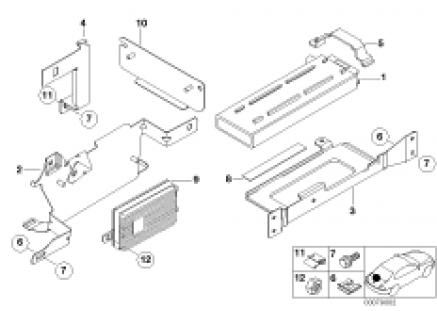 Single parts, SA 632, trunk