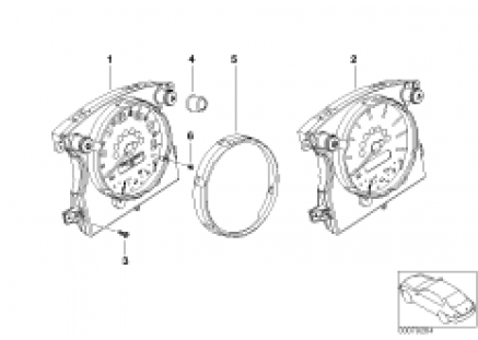 Speedometer and rev.counter, instr.panel