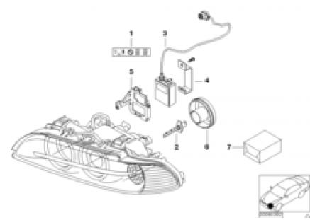 Headlight, electronic parts, Xenon light
