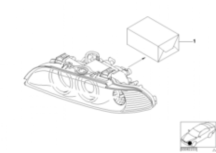 Conversion kit, headlight, facelift 2000