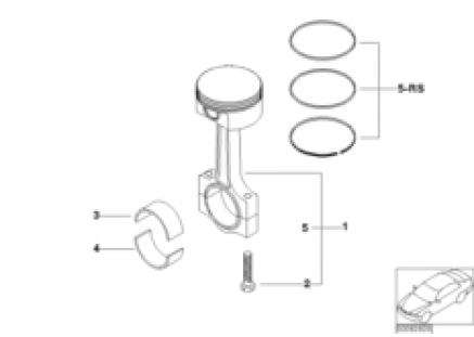 Crankshaft connect.rod with pistons