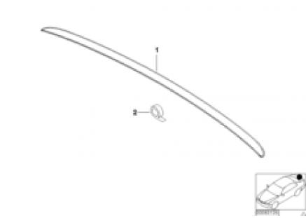 BMW motorsport rear wing