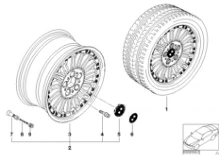 BMW composite wheel, radial spoke 86