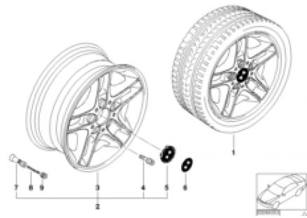 BMW LA wheel, double spoke 88