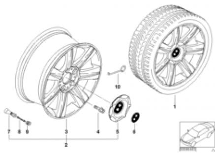 BMW LA wheel, star spoke 96
