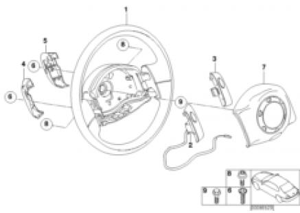 Steering whl airbag non-multifunctional