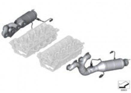 Exhaust manifold - oxygen sensors