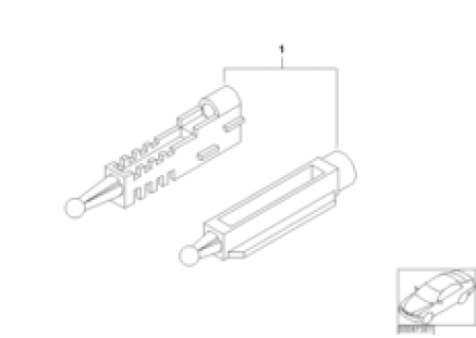 Adjusting element, headlight