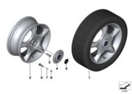 MINI alloy wheel 5-spider spoke 83