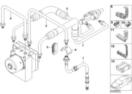 Front brake pipe ASC