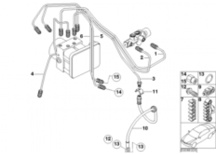 Brake pipe front ABS