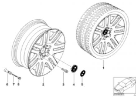 BMW LA wheel, double spoke 93