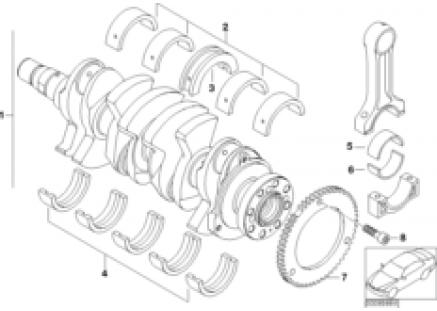Cranksh.drive crankshaft/ bearing shells