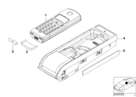 Single parts, SA 630, center console