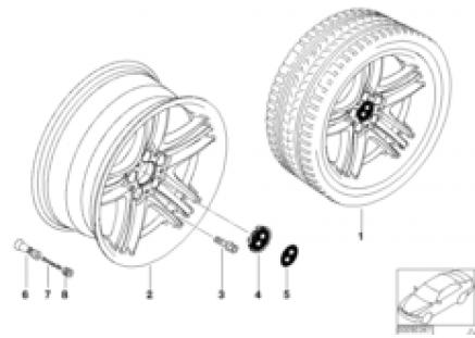 BMW LA wheel, star spoke 89