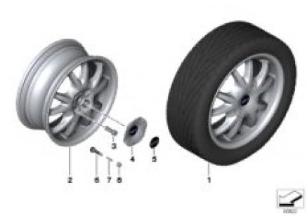 MINI alloy wheel double spoke 88
