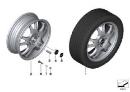 MINI alloy wheel double spoke 87