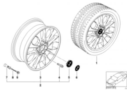 BMW LA wheel, double spoke 98