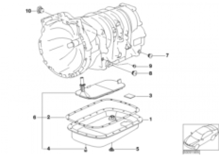 A4S200R oil pan/oil strainer