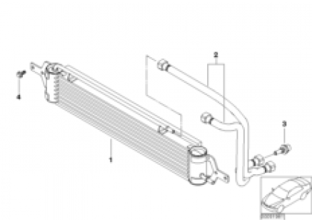 Oil cooler/Oil cooling pipe