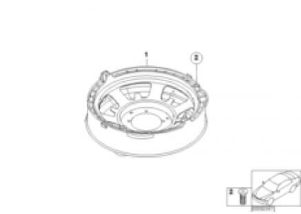 Individ. parts, subwoofer M-sound system
