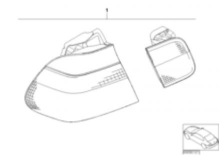 Conversion kit tail light Facelift 2001