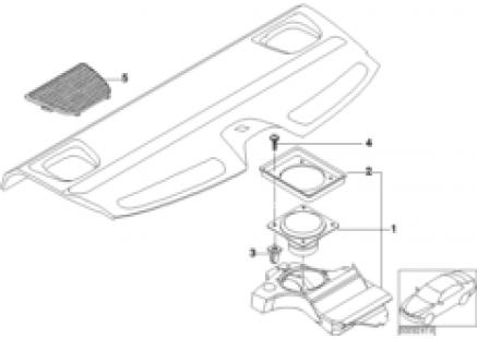 Components M-sound system rear shelf