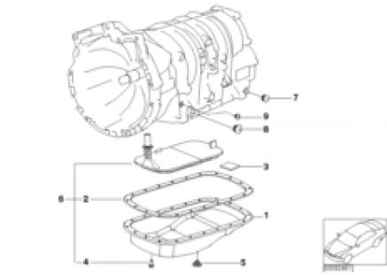 A5S360R/390R oil pan/oil strainer