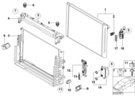 Mounting parts f radiator
