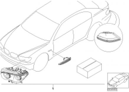 Install.kit turn indicators, white