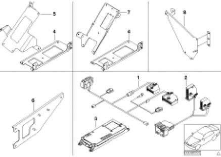 Single parts f Cordless lugga. compartm.