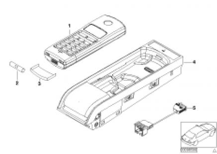 Single parts Cordless centre console